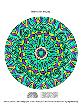 Magical Mandalas 3 - 10 Page Coloring Book