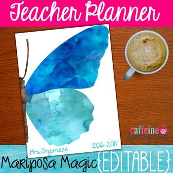 Magical Mariposas Teacher Binder - Yearly Updates - Editab