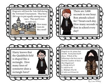 Magical Math Task Cards