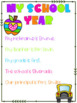 End of Year Memory Book Pre K - 6th Grade