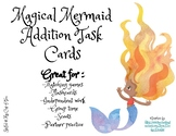 Magical Mermaid Addition Task Cards - Single Digit Additio