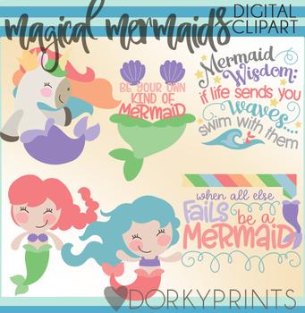 Magical Mermaid Clipart