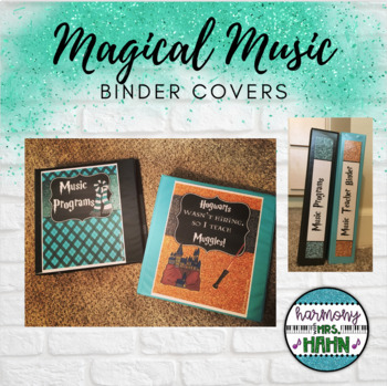 Magical Music Classroom Theme - Binder Covers