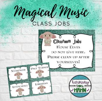Magical Music Classroom Theme - Classroom Jobs