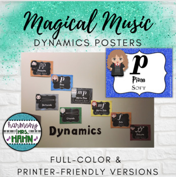 Magical Music Classroom Theme - Dynamics Posters