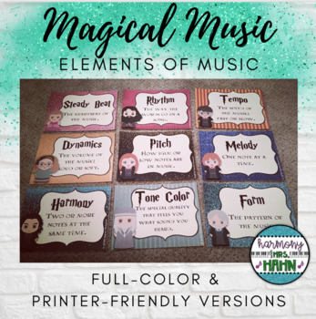 Magical Music Classroom Theme - Elements of Music Posters