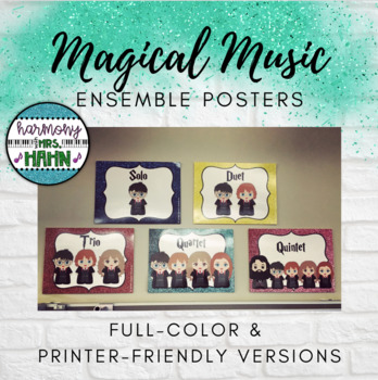 Magical Music Classroom Theme - Ensemble Posters