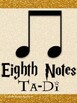 Magical Music Classroom Theme - Notes and Rests Posters