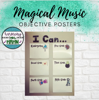 Magical Music Classroom Theme - Objective Signs