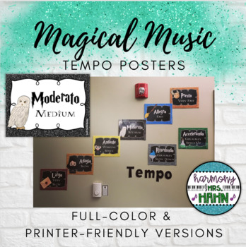 Magical Music Classroom Theme - Tempo Posters