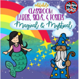 Magical & Mystical Labels, Signs, and Posters  **editable**