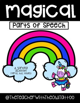 Magical Parts Of Speech (A sorting activity)
