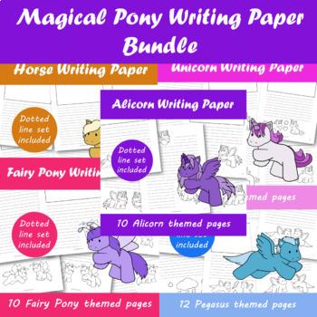 Magical Ponies Writing Paper Bundle