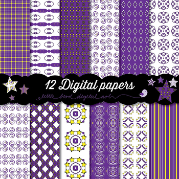 Magical Purple - 12 Digital Papers
