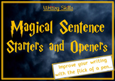 Magical Sentence Openers and Starters Writing Frames