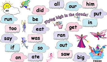 Magical Sight Word Board Games