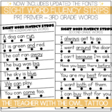 Sight Word Fluency Sentence Strips