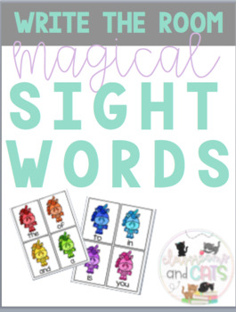Magical Write the Room Sight Word Game