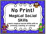 Magical Social Skills No Print Activities