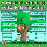 A Magical Tree House Editable Nameplates