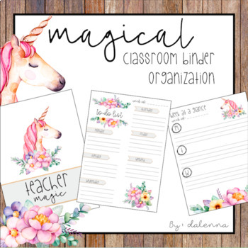Magical Unicorn Binder and Organization