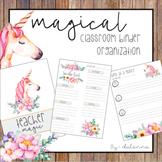 Magical Unicorn Binder and Organization