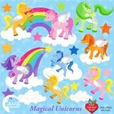 Unicorn Clipart, Magical Unicorn Clipart, {Best Teacher Tools} AMB-160