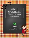 Wizard Classroom Theme - Alphabet Posters (Plaid)