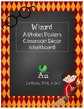 Magical Wizard Classroom Theme - Alphabet Posters (Diamond)