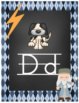 Wizard Classroom Theme - Alphabet Posters (Diamond)