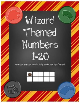 Wizard Classroom Theme - Number Posters (Striped)