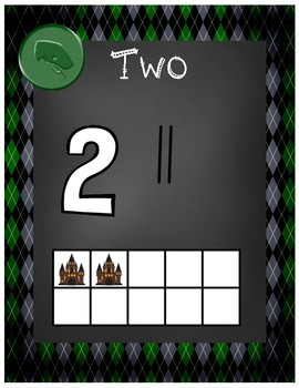 Magical Wizard Classroom Theme - Number Posters (Diamond)