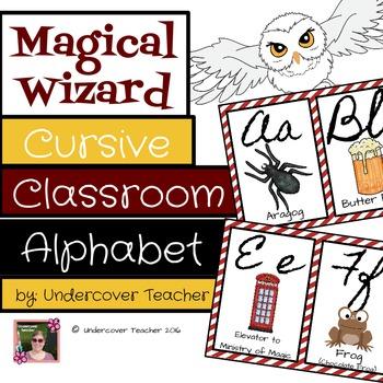 Magical Wizard Cursive Classroom Alphabet Decorative