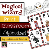 Magical Wizard Print Block Letter Classroom Alphabet Decorative