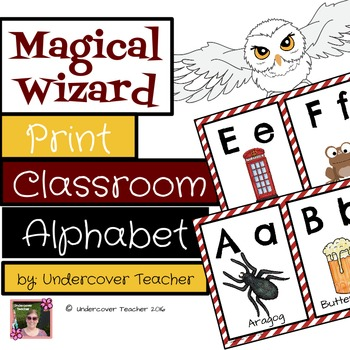 Magical Wizard Print Block Letter Classroom Alphabet Decorative