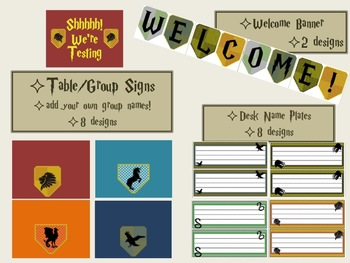 Magical Wizard Themed Classroom Bundle- INSPIRED by Harry Potter- Editable