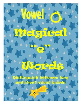 "Magical ""e"" Word Game: Distinguish Between Long and Short Vowel a"