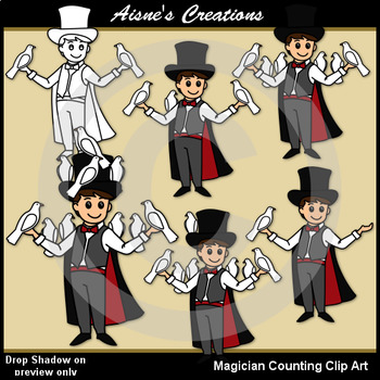 Magician Counting Clip Art