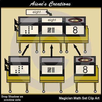 Magician Math Set Clip Art