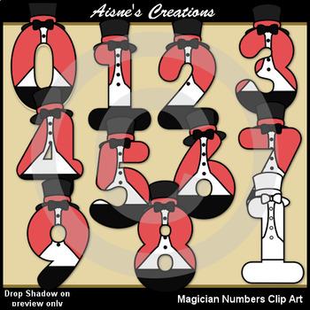 Magician Numbers Clip Art