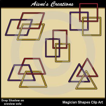 Magician Shapes Clip Art