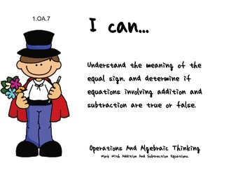 Magician Theme 1st grade math Common Core Posters first Grade Standards
