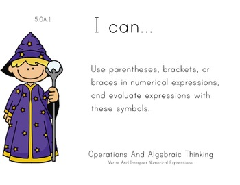 Magician Theme 5th grade math Common Core Posters Fifth Grade Standards