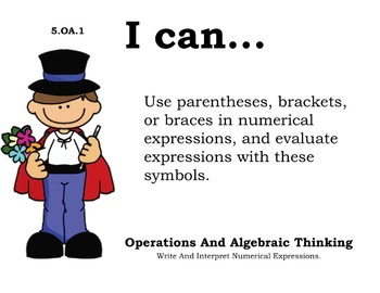 Magician Theme 5th grade math Common Core Posters Fifth Grade Standards