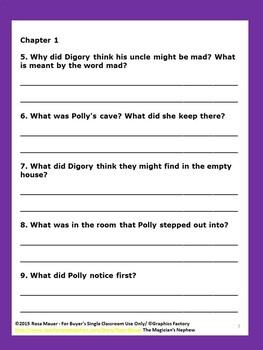 Magician's Nephew Literacy Unit