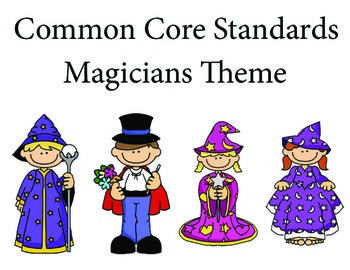 Magicians 1st grade English Common core standards posters