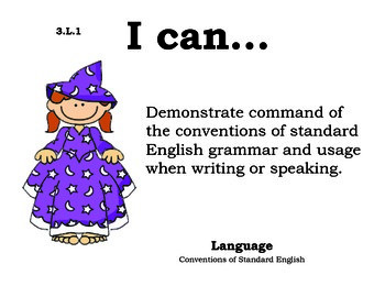 Magicians 3rd grade English Common core standards posters