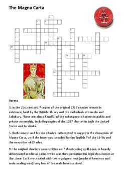 Magna Carta Cross Word