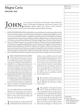 Magna Carta (England, 1215)