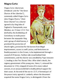 Magna Carta Handout